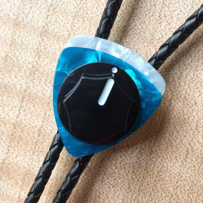 Fender Skirted Knob Bolo Tie - Turquoise, White, Silver